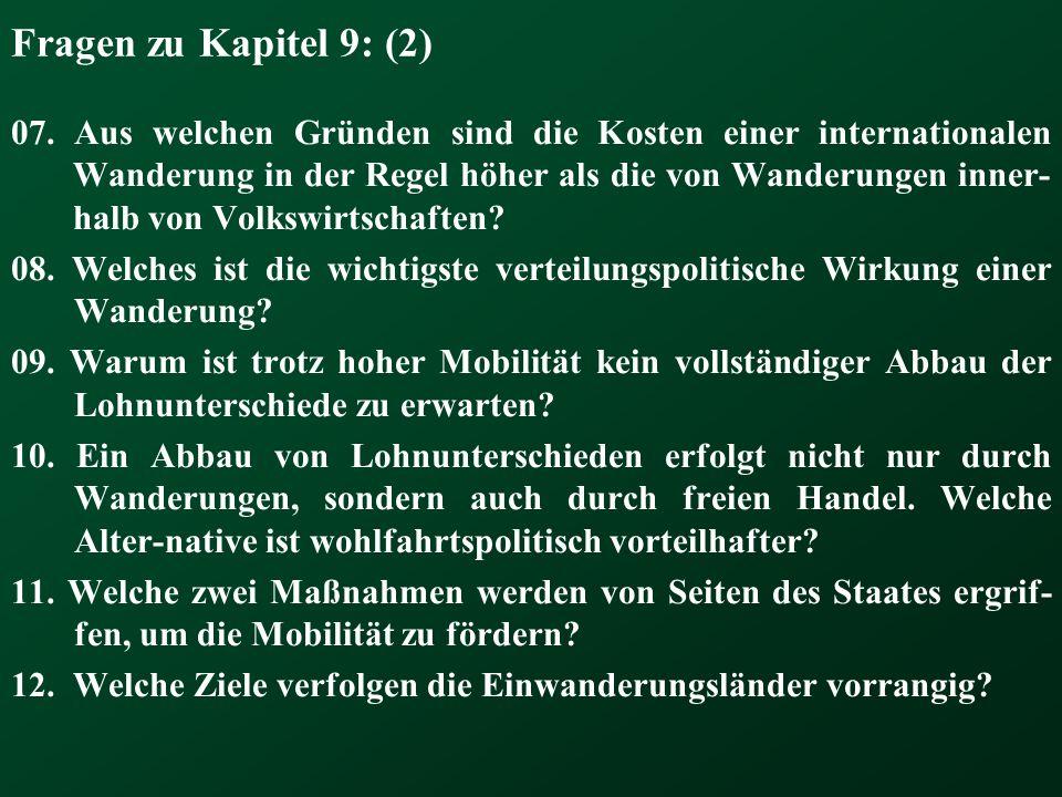 Fragen zu Kapitel 9: (2) 07.