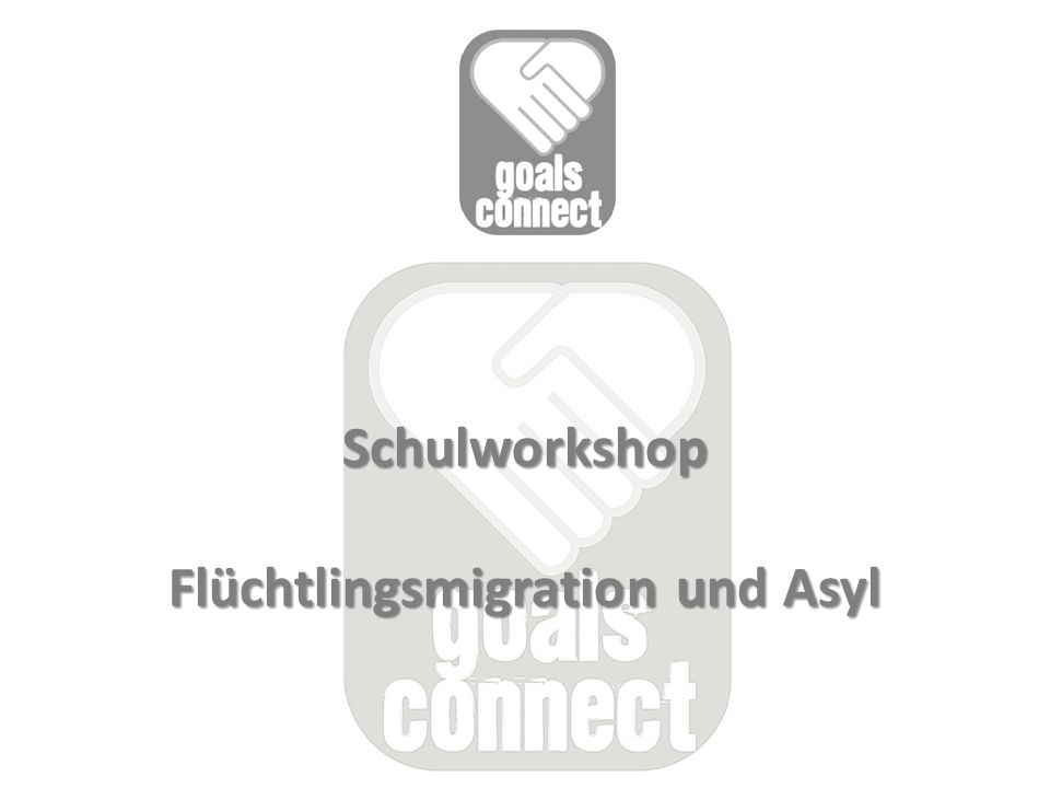 Schulworkshop Flüchtlingsmigration und Asyl Schulworkshop Flüchtlingsmigration und Asyl