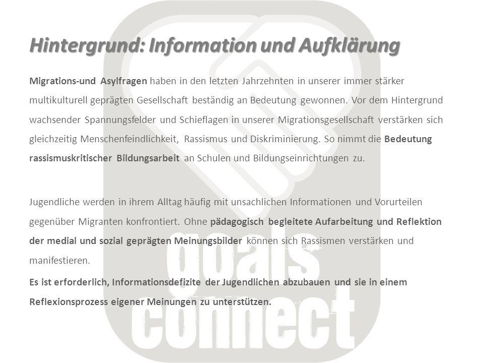 Hintergrund: Information und Aufklärung Migrations-und Asylfragen haben in den letzten Jahrzehnten in unserer immer stärker multikulturell geprägten G