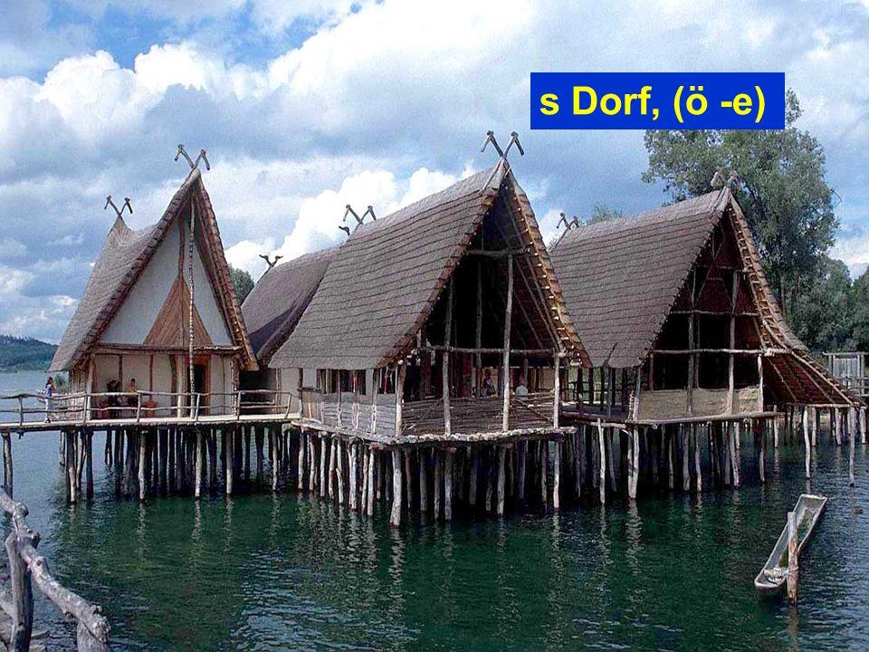 s Dorf, (ö -e)