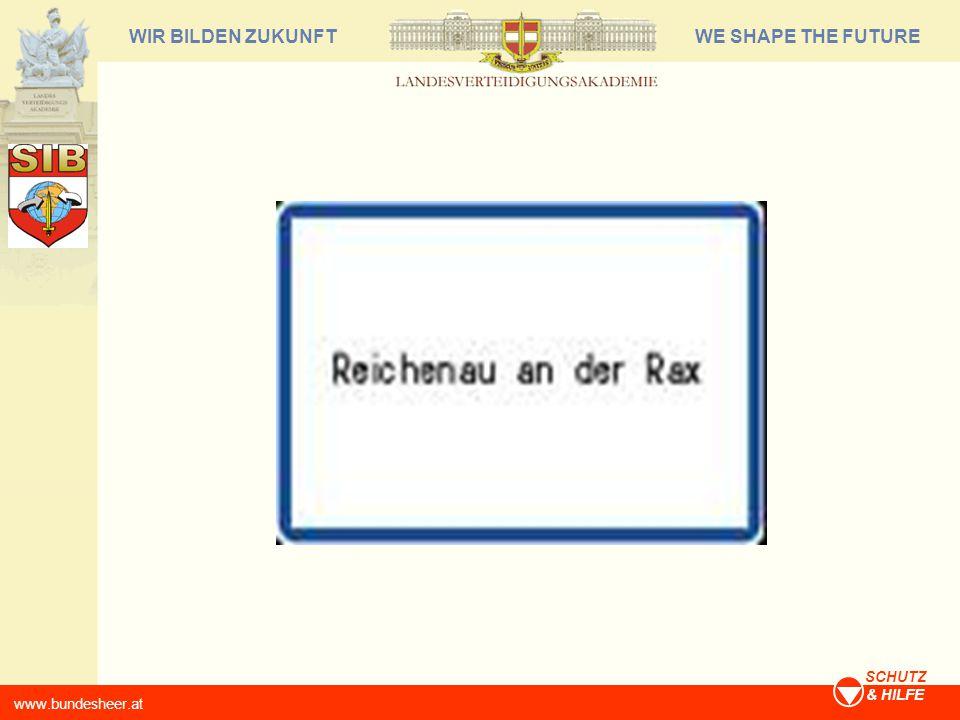 WE SHAPE THE FUTUREWIR BILDEN ZUKUNFT www.bundesheer.at SCHUTZ & HILFE