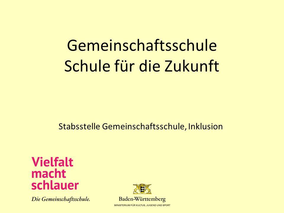 Themen 1.Die Gemeinschaftsschule in Baden-Württemberg 2.