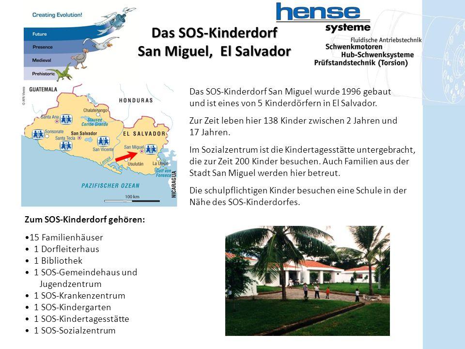 Zum SOS-Kinderdorf gehören: 15 Familienhäuser 1 Dorfleiterhaus 1 Bibliothek 1 SOS-Gemeindehaus und Jugendzentrum 1 SOS-Krankenzentrum 1 SOS-Kindergart