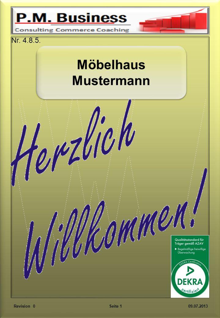 Möbelhaus Mustermann Möbelhaus Mustermann Revision 0 Seite 1 09.07.2013 Nr. 4.8.5.