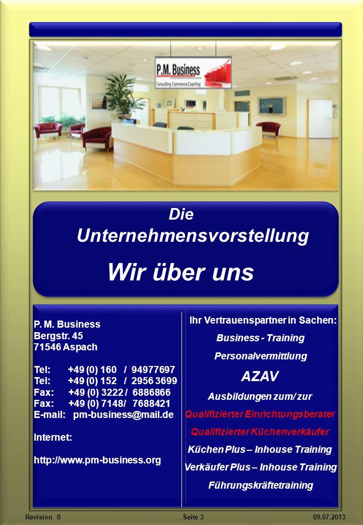 Bergstr. 45 71546 Aspach Unser Unternehmenssitz Revision 0 Seite 4 09.07.2013