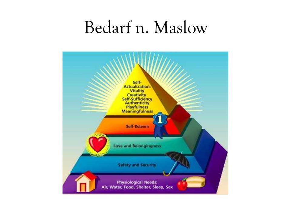 Bedarf n. Maslow