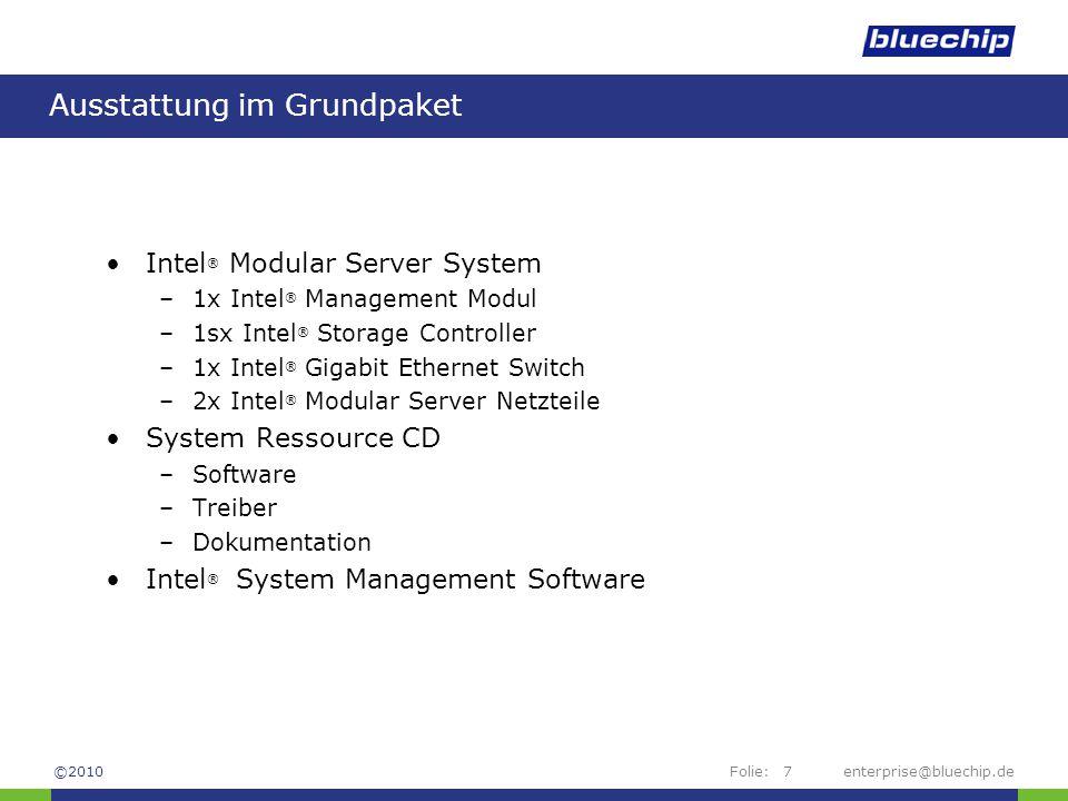 Folie:enterprise@bluechip.de28 Management – Server TAB ©2010