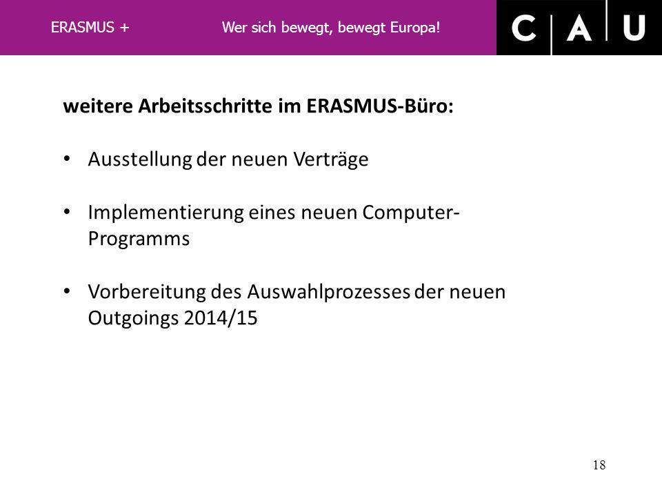 zu 2: Umsetzung an der CAU – hier: Status Quo: Zahlen 2012/13 17