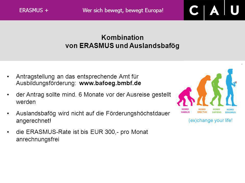 besondere Hinweise für ERASMUS+ LLP/ERASMUS keine Beurlaubung notwendig, da Fortsetzung des Fachstudiums Erstattung des Semestertickets - beim Asta Ve