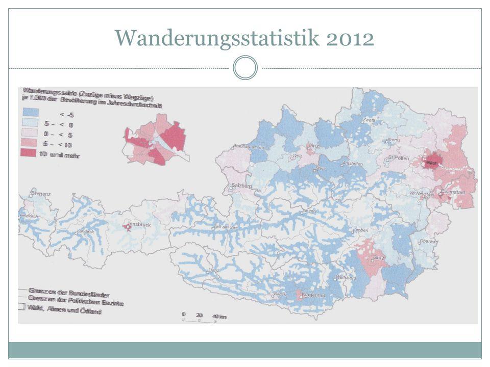 Wanderungsstatistik 2012