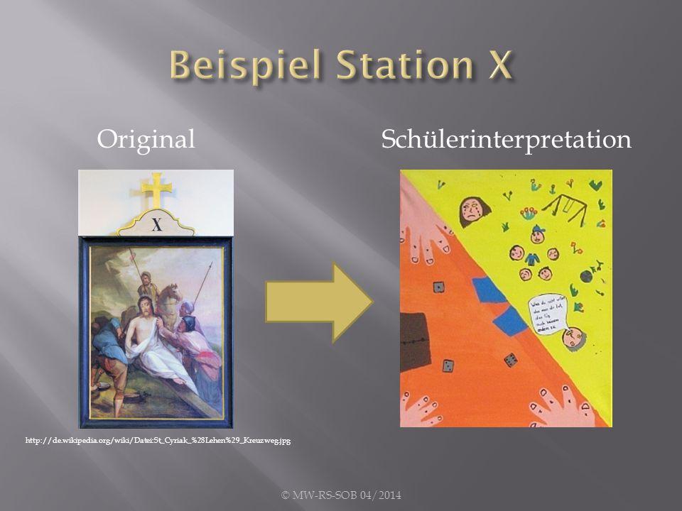 OriginalSchülerinterpretation © MW-RS-SOB 04/2014 http://de.wikipedia.org/wiki/Datei:St_Cyriak_%28Lehen%29_Kreuzweg.jpg