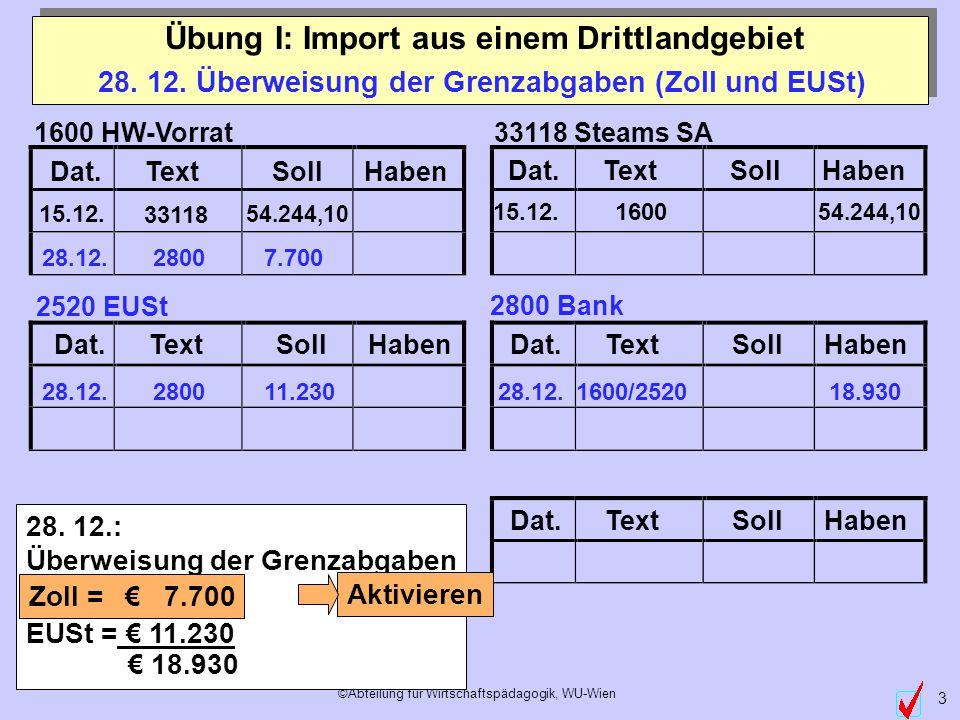 ©Abteilung für Wirtschaftspädagogik, WU-Wien 3 Dat.