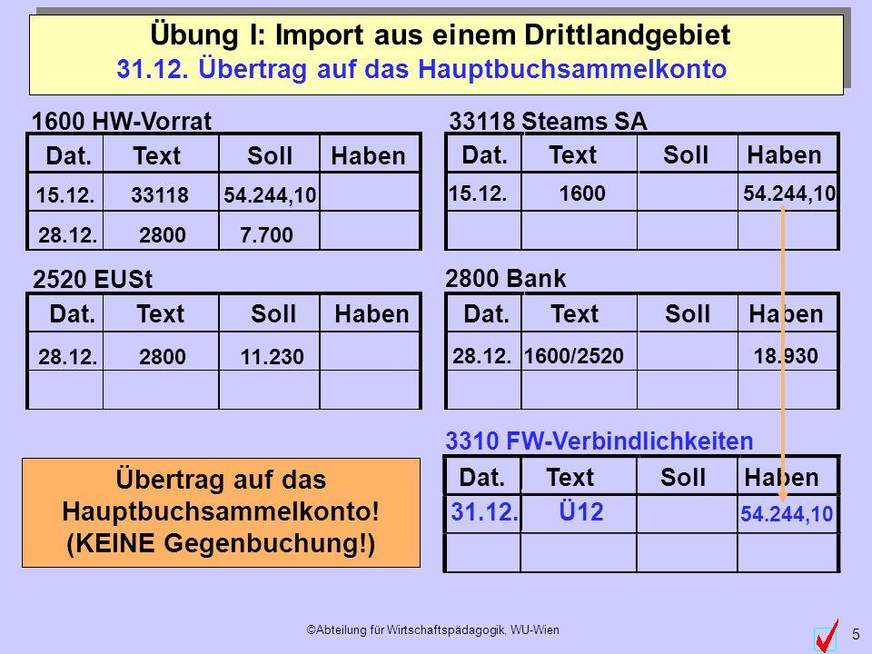 ©Abteilung für Wirtschaftspädagogik, WU-Wien 5 Dat.