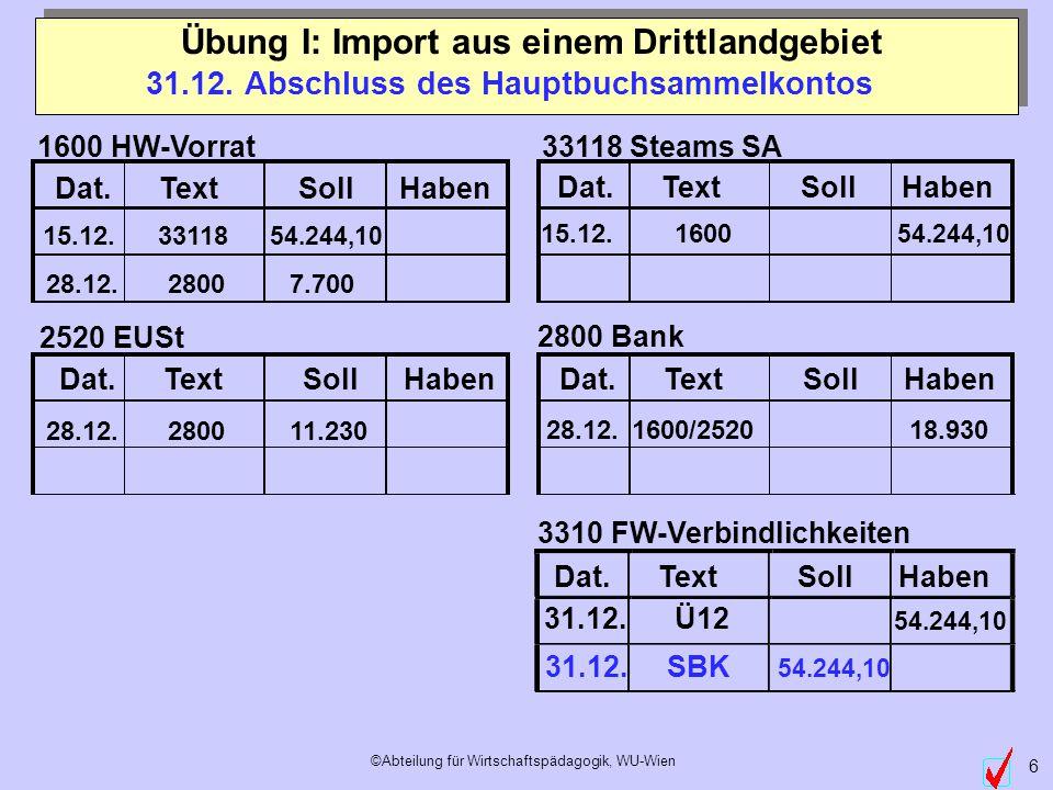 ©Abteilung für Wirtschaftspädagogik, WU-Wien 6 Dat.