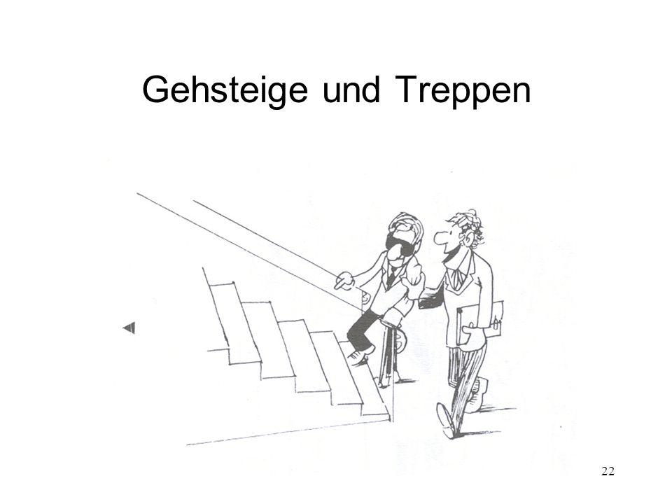 22 Gehsteige und Treppen