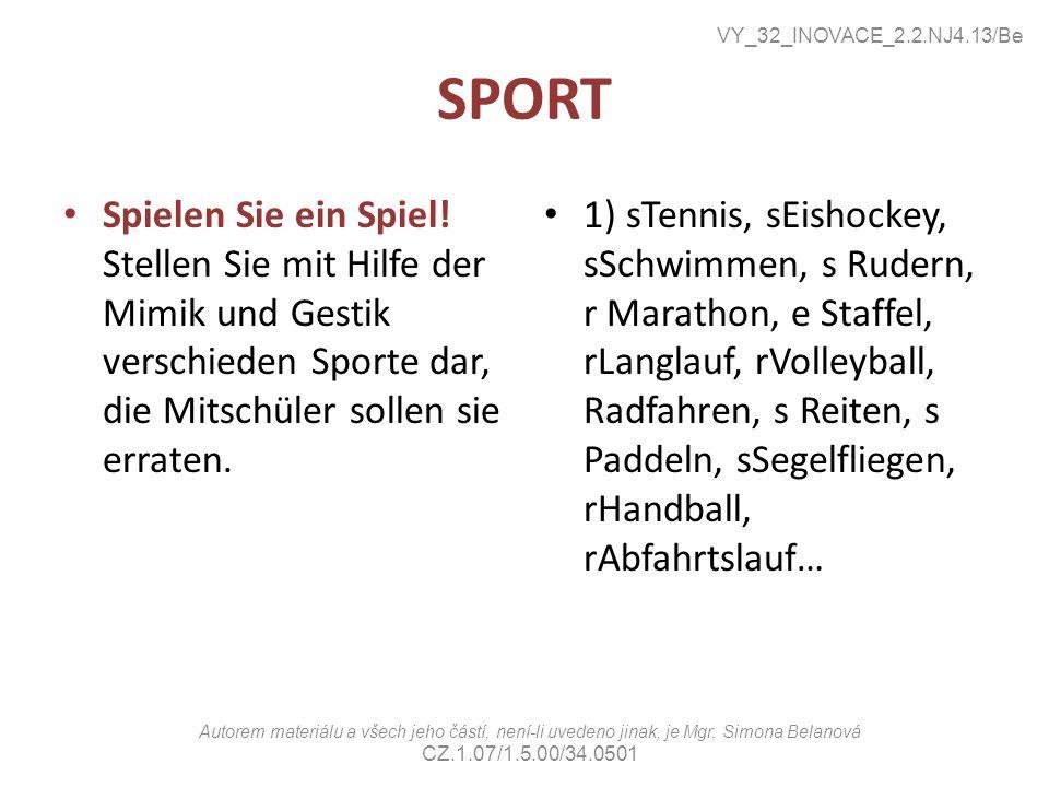 Schreiben Sie .Brainstorming 1) Welche Sporteinrichtungen kennen Sie.
