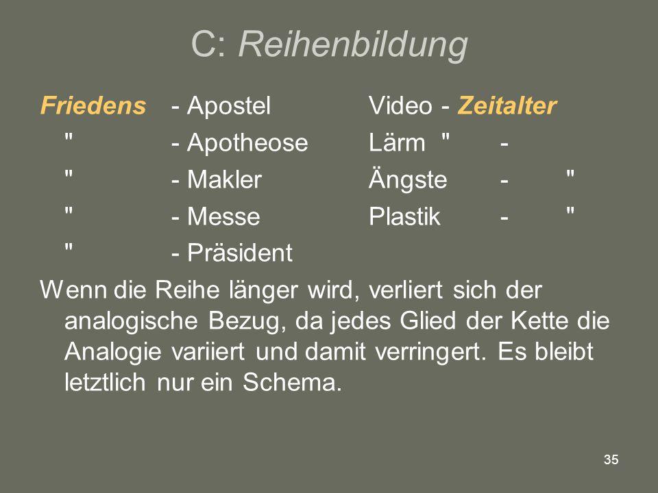 35 C: Reihenbildung Friedens - Apostel Video - Zeitalter