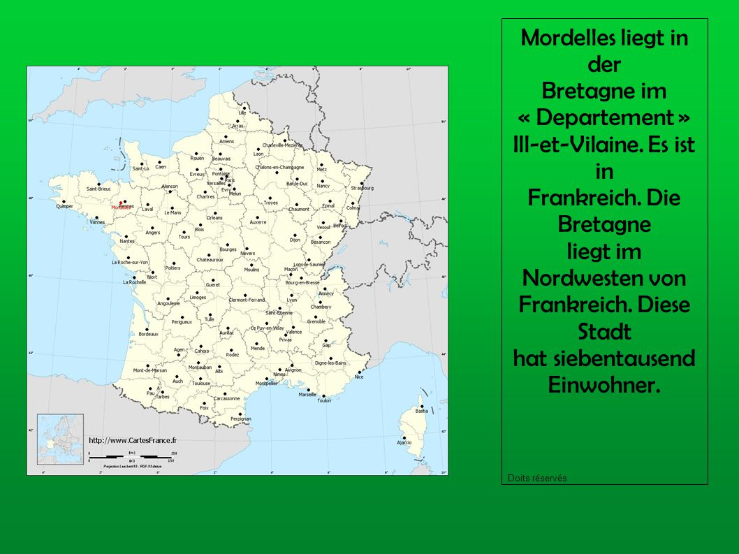 Mordelles liegt in der Bretagne im « Departement » Ill-et-Vilaine.