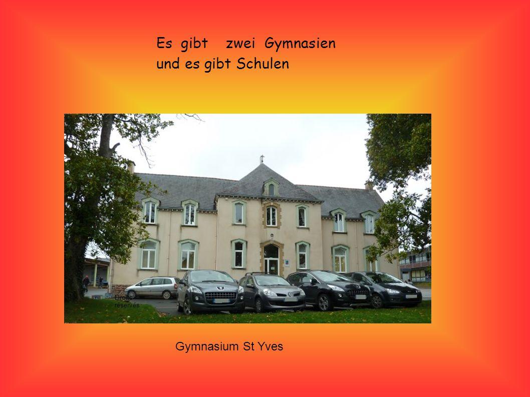 Es gibt zwei Gymnasien und es gibt Schulen Gymnasium St Yves Droits réservés