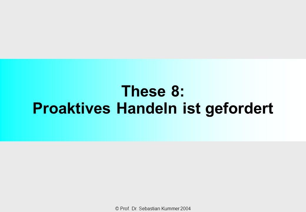 © Prof. Dr. Sebastian Kummer 2004 These 8: Proaktives Handeln ist gefordert
