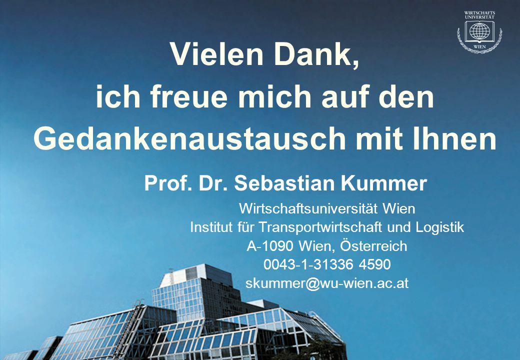 © Prof. Dr. Sebastian Kummer 2004 Vielen Dank, ich freue mich auf den Gedankenaustausch mit Ihnen Prof. Dr. Sebastian Kummer Wirtschaftsuniversität Wi