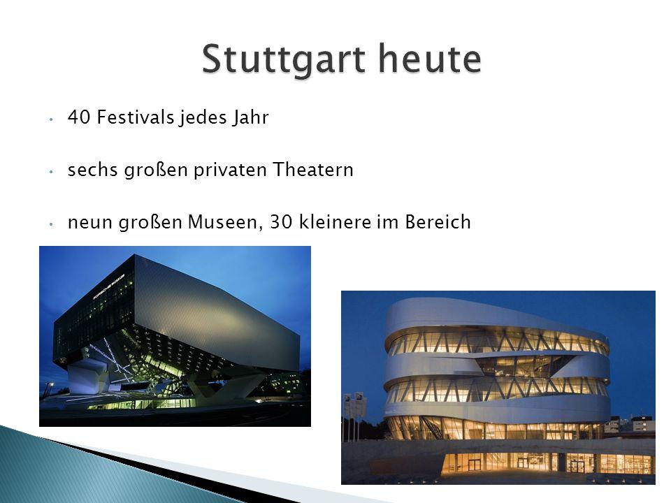 40 Festivals jedes Jahr sechs großen privaten Theatern neun großen Museen, 30 kleinere im Bereich