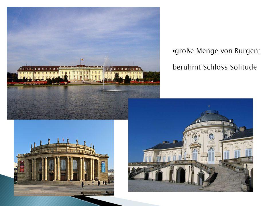 große Menge von Burgen: berühmt Schloss Solitude