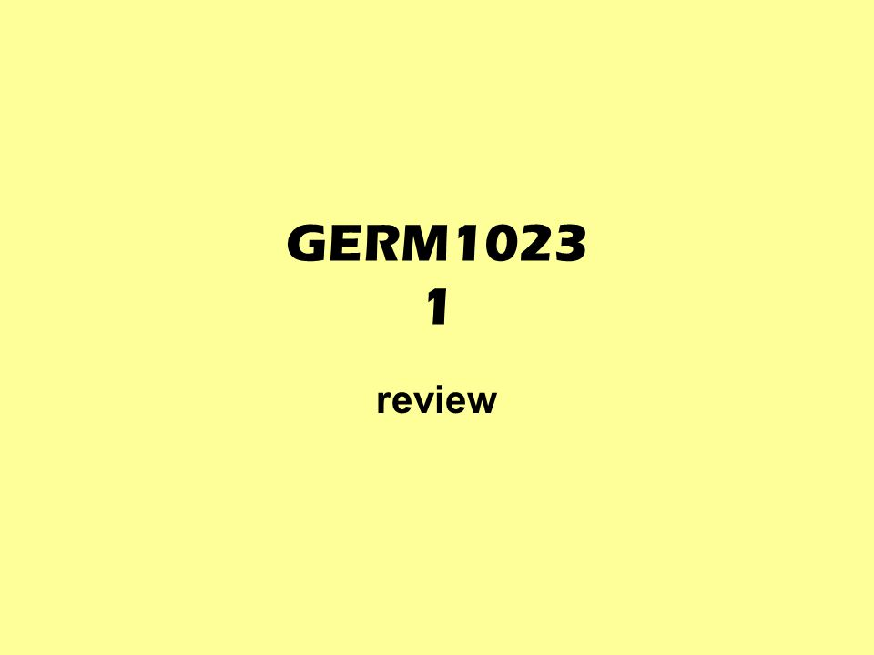 GERM1023 1 review