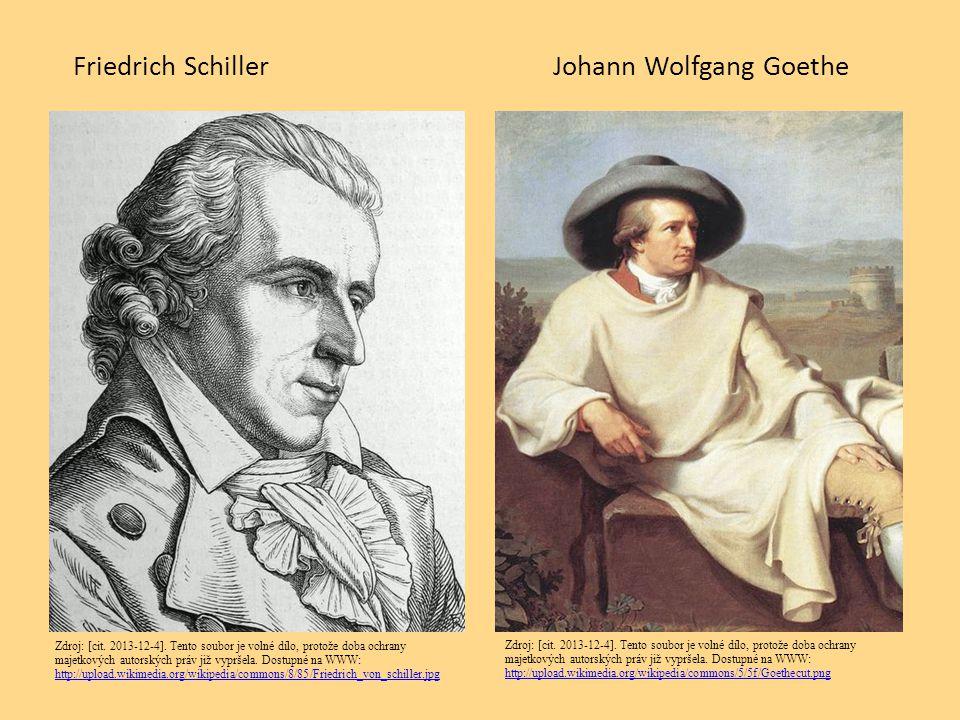 Friedrich SchillerJohann Wolfgang Goethe Zdroj: [cit. 2013-12-4]. Tento soubor je volné dílo, protože doba ochrany majetkových autorských práv již vyp