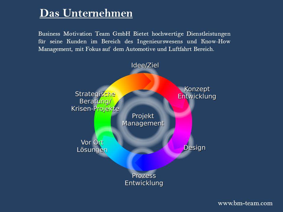 Business Motivation Team GmbH Bietet hochwertige Dienstleistungen für seine Kunden im Bereich des Ingenieurswesens und Know-How Management, mit Fokus