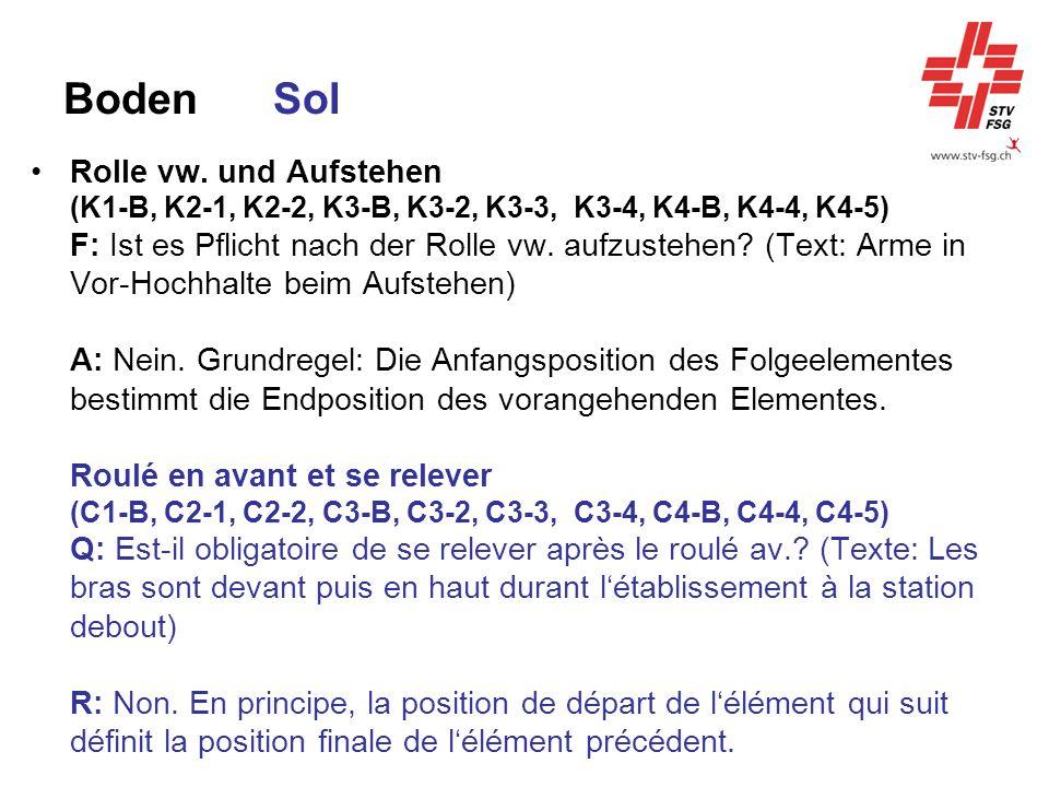 BodenSol Rolle vw. und Aufstehen (K1-B, K2-1, K2-2, K3-B, K3-2, K3-3, K3-4, K4-B, K4-4, K4-5) F: Ist es Pflicht nach der Rolle vw. aufzustehen? (Text: