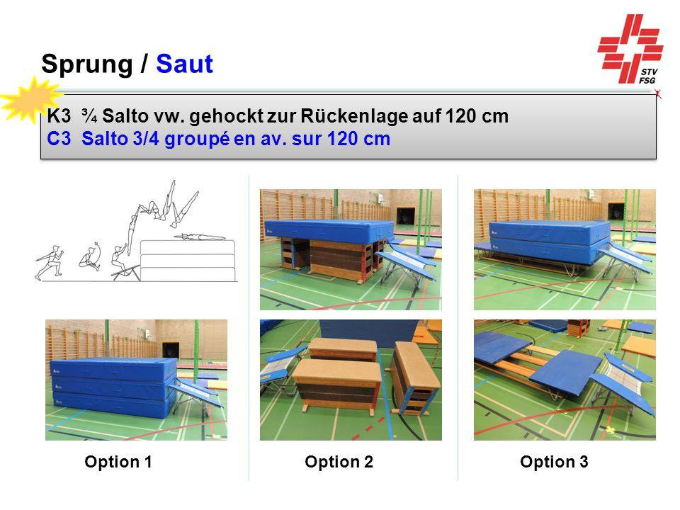 Sprung / Saut Option 1 Option 2 Option 3