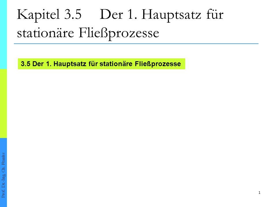 2 3.51.Hauptsatz für stationäre Fließprozesse Prof.