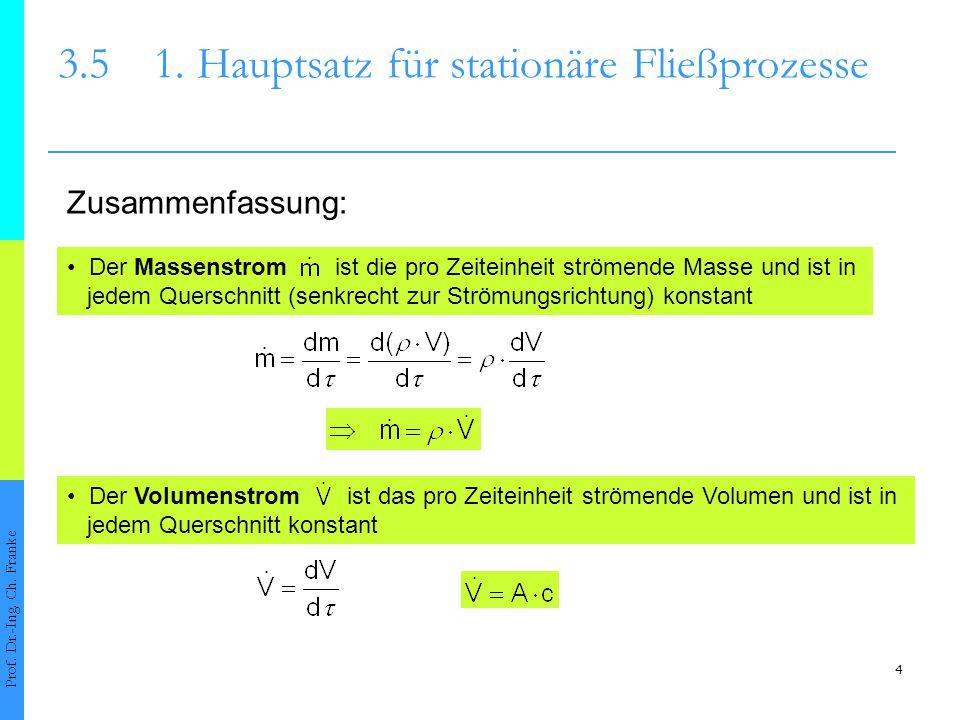 5 3.51.Hauptsatz für stationäre Fließprozesse Prof.