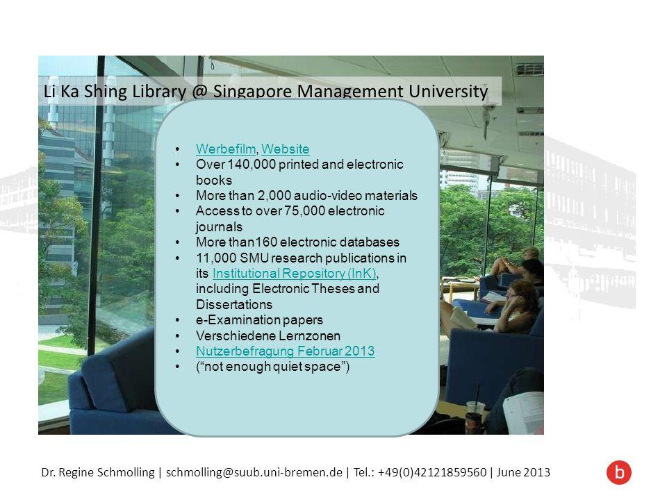 Dr. Regine Schmolling | schmolling@suub.uni-bremen.de | Tel.: +49(0)42121859560 | June 2013 Werbefilm, WebsiteWerbefilmWebsite Over 140,000 printed an