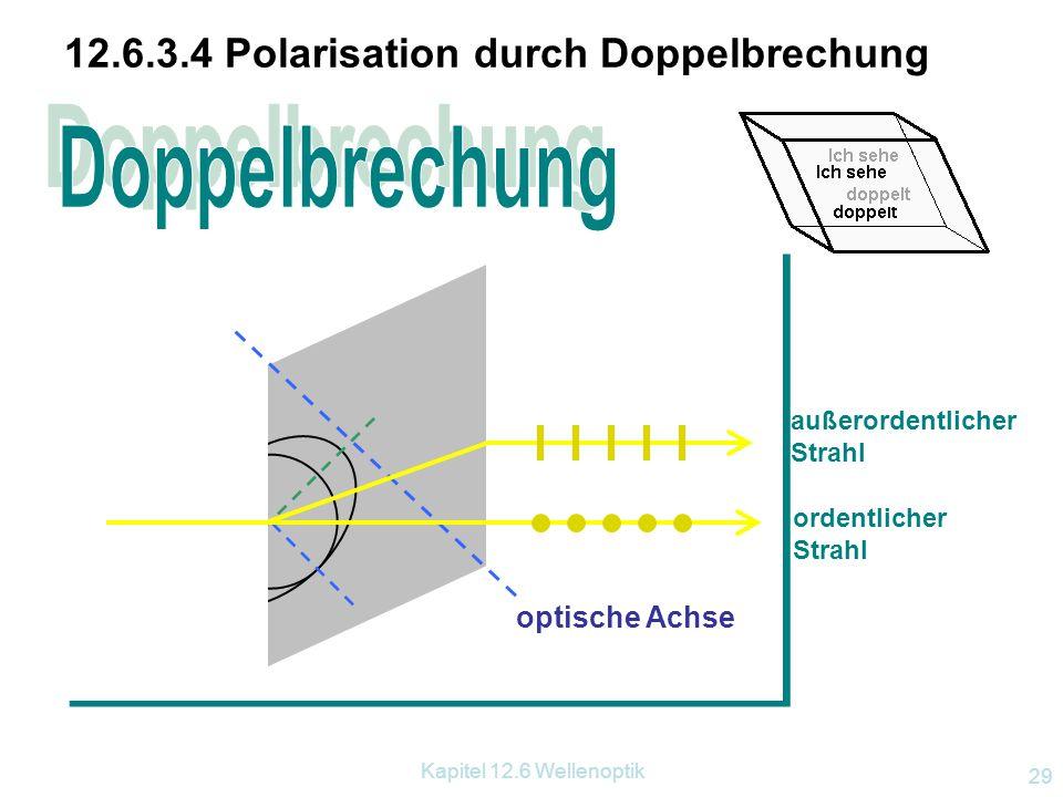 Kapitel 12.6 Wellenoptik 28 Polarisation des Himmelslicht