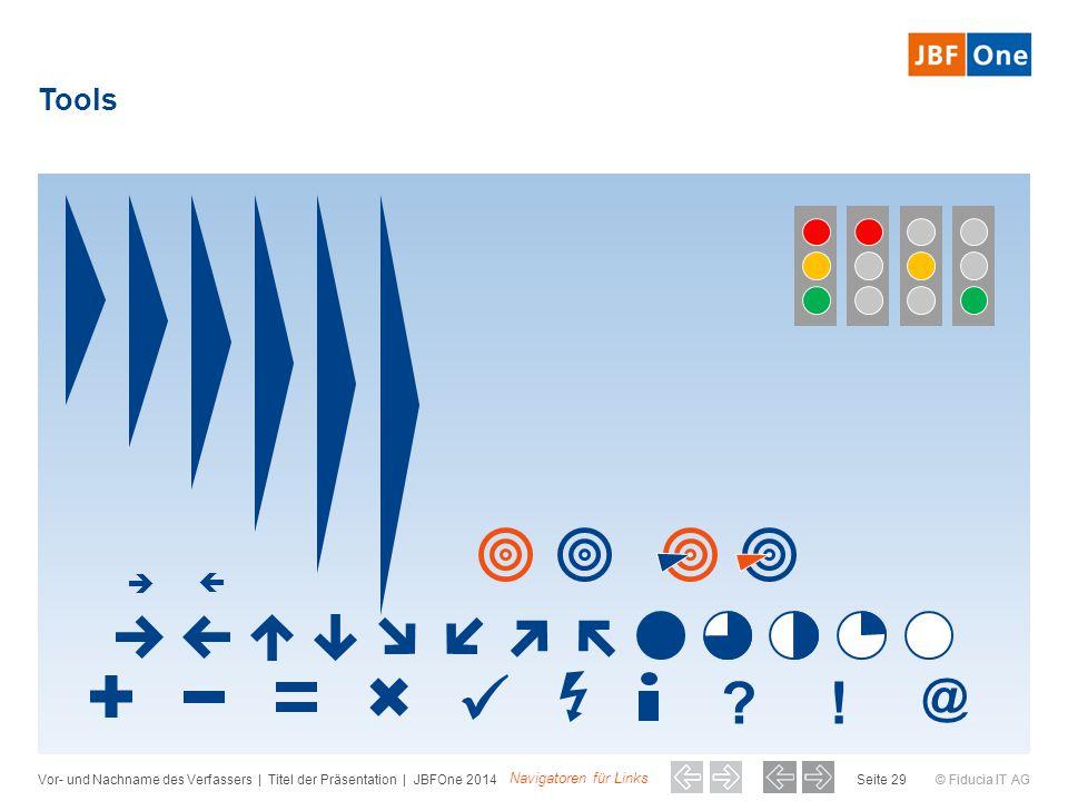 © Fiducia IT AG Tools Vor- und Nachname des Verfassers | Titel der Präsentation | JBFOne 2014Seite 29 ?! @ Navigatoren für Links  