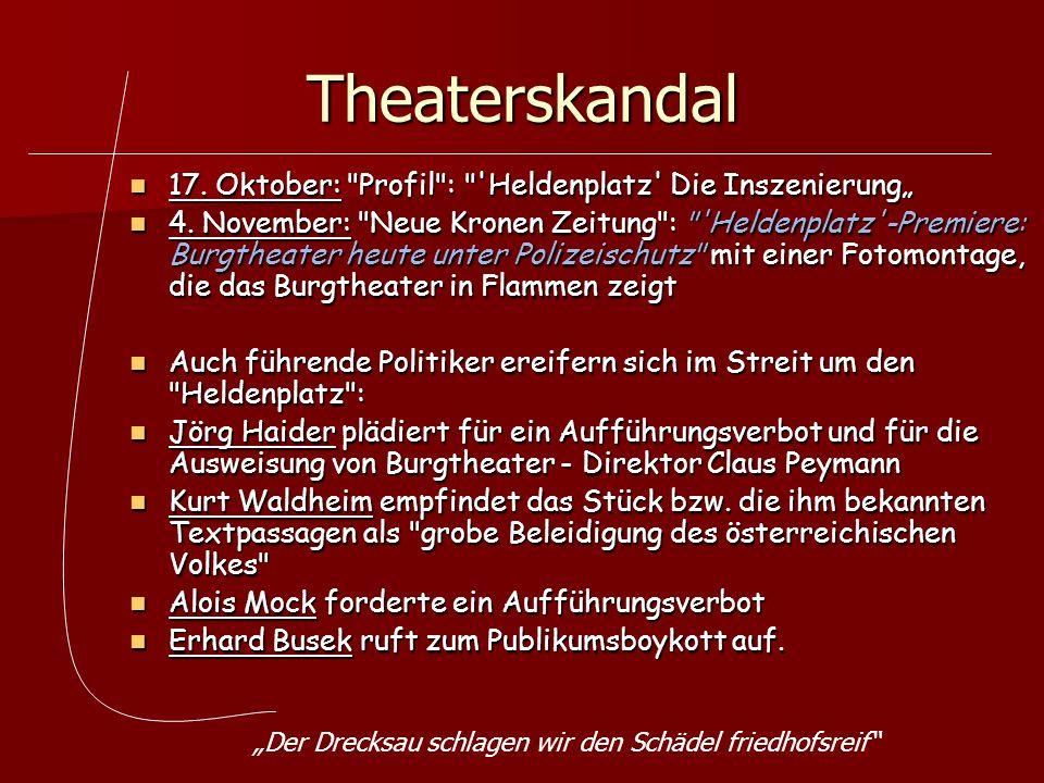 Theaterskandal 17. Oktober: