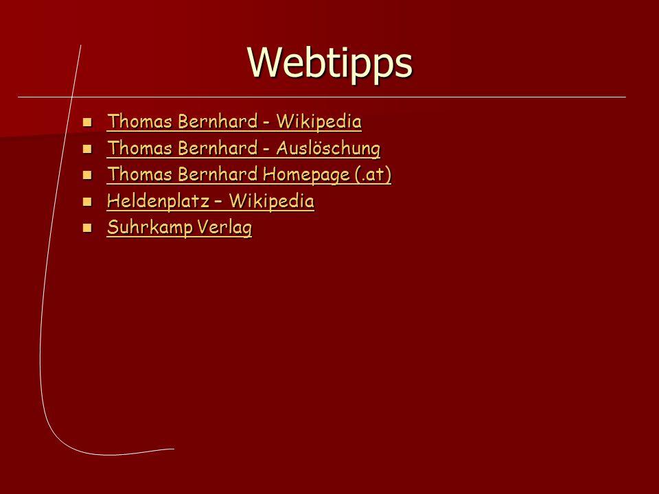 Webtipps Thomas Bernhard - Wikipedia Thomas Bernhard - Wikipedia Thomas Bernhard - Wikipedia Thomas Bernhard - Wikipedia Thomas Bernhard - Auslöschung
