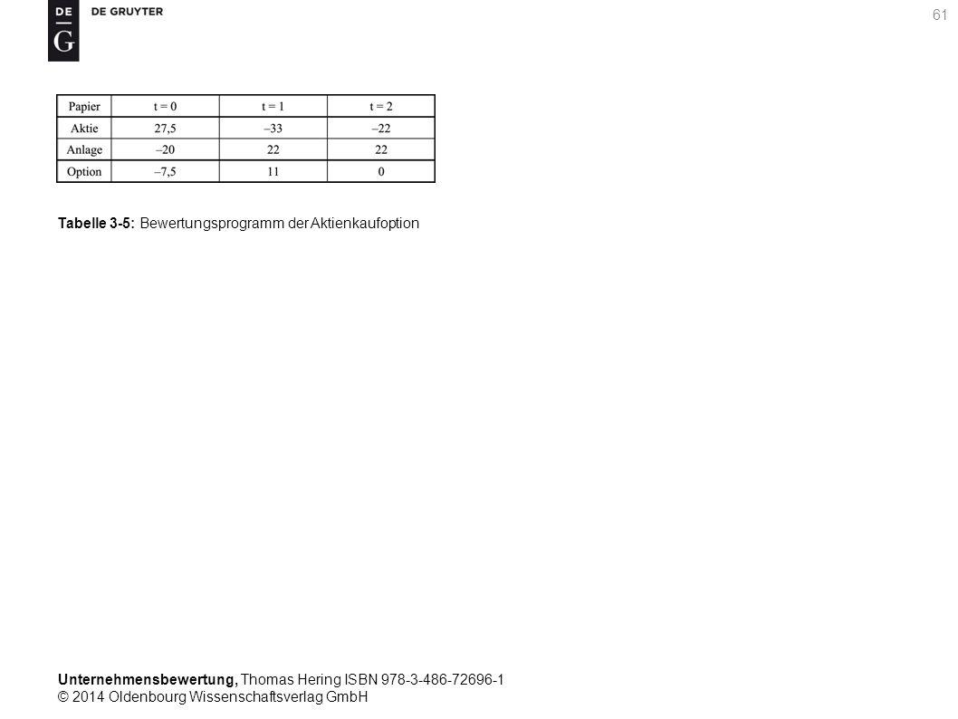 Unternehmensbewertung, Thomas Hering ISBN 978-3-486-72696-1 © 2014 Oldenbourg Wissenschaftsverlag GmbH 61 Tabelle 3-5: Bewertungsprogramm der Aktienka