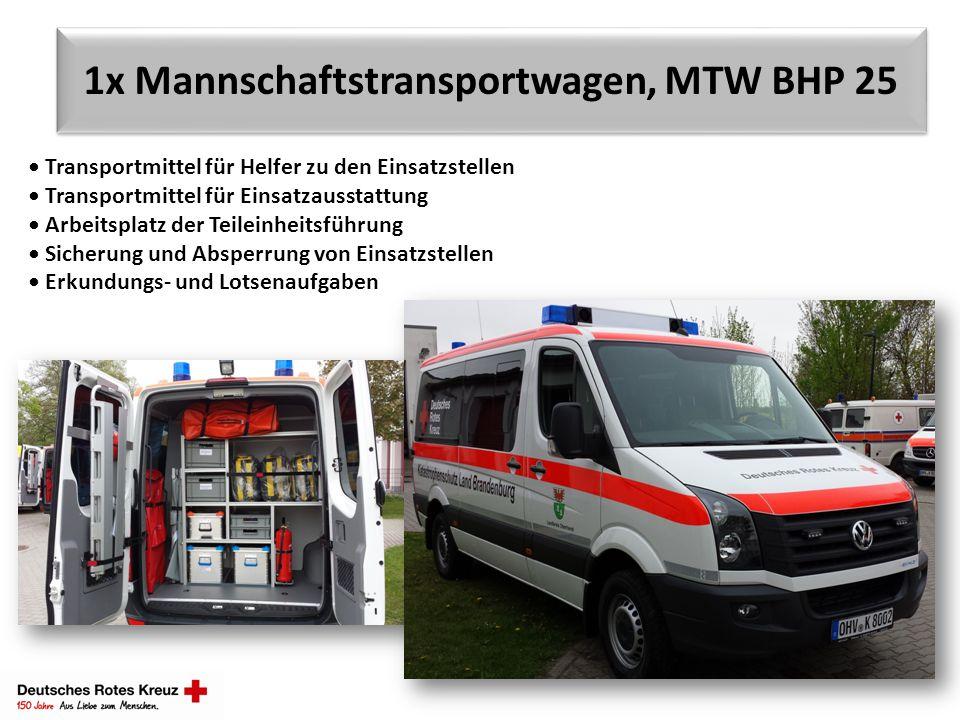 1x Mannschaftstransportwagen, MTW BHP 25 Transportmittel für Helfer zu den Einsatzstellen Transportmittel für Einsatzausstattung Arbeitsplatz der Teil