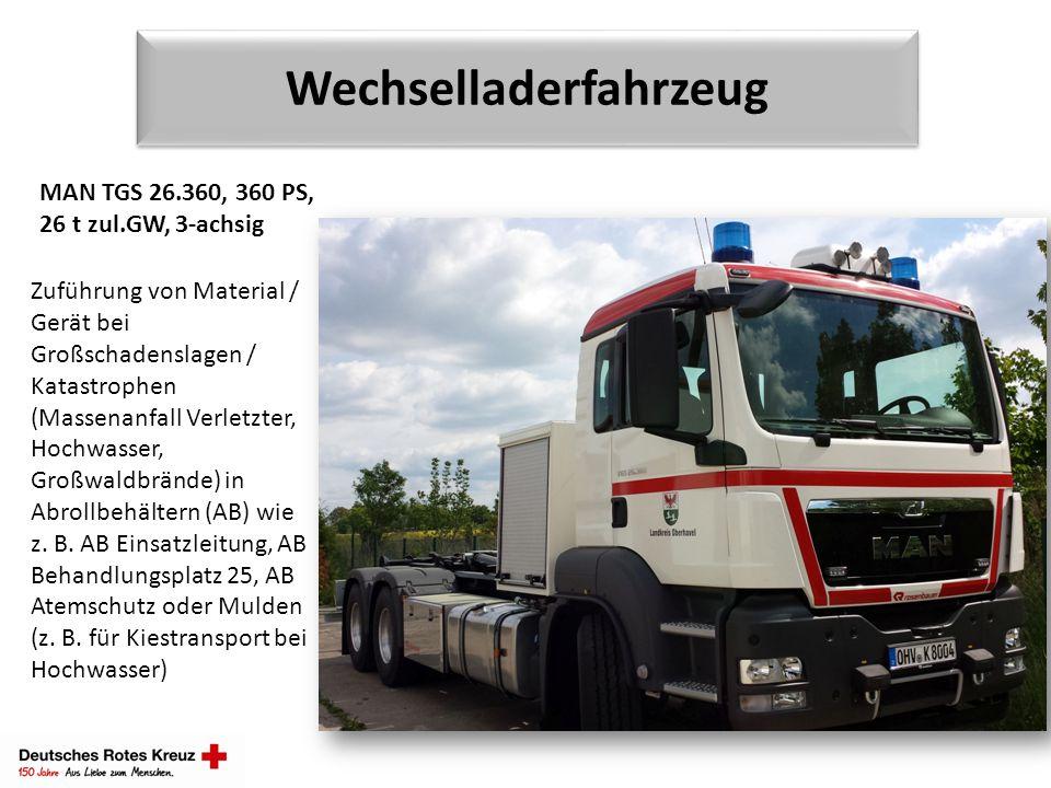 Wechselladerfahrzeug MAN TGS 26.360, 360 PS, 26 t zul.GW, 3-achsig Zuführung von Material / Gerät bei Großschadenslagen / Katastrophen (Massenanfall V