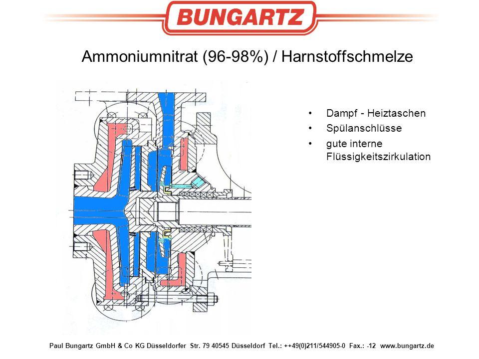 Paul Bungartz GmbH & Co KG Düsseldorfer Str. 79 40545 Düsseldorf Tel.: ++49(0)211/544905-0 Fax.: -12 www.bungartz.de Ammoniumnitrat (96-98%) / Harnsto