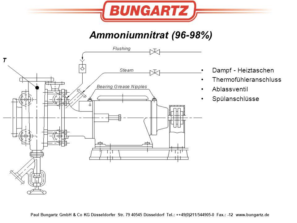 Paul Bungartz GmbH & Co KG Düsseldorfer Str. 79 40545 Düsseldorf Tel.: ++49(0)211/544905-0 Fax.: -12 www.bungartz.de T Ammoniumnitrat (96-98%) Dampf -