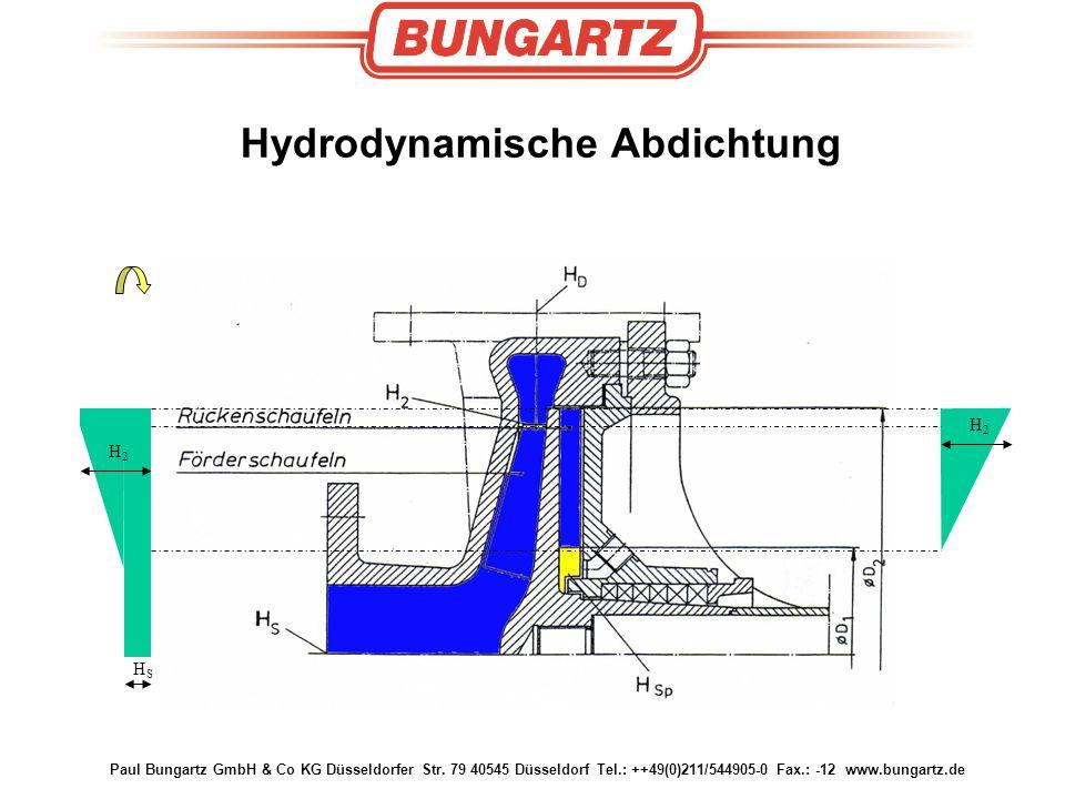 Paul Bungartz GmbH & Co KG Düsseldorfer Str. 79 40545 Düsseldorf Tel.: ++49(0)211/544905-0 Fax.: -12 www.bungartz.de Hydrodynamische Abdichtung HSHS H