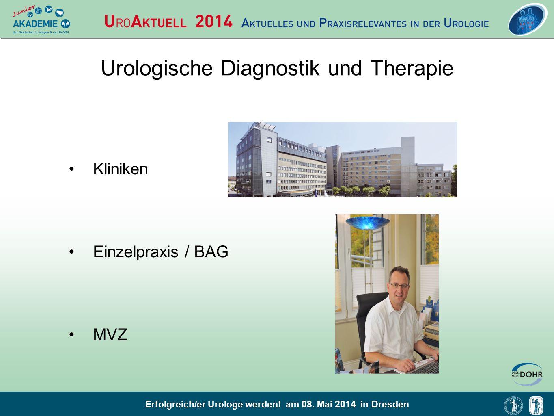 Erfolgreich/er Urologe werden! am 08. Mai 2014 in Dresden Urologische Diagnostik und Therapie Kliniken Einzelpraxis / BAG MVZ