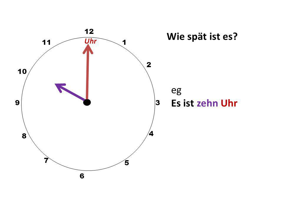 Pick the correct time 2. Es ist halb sieben. 5:30 7:30 6:30 7:30