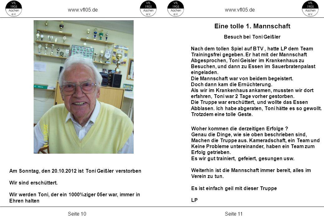 www.vfl05.de Seite 11Seite 10 ZEICHENERKLÄRUNG Erzeugt: 04.05.2011 04:33 Eine tolle 1.