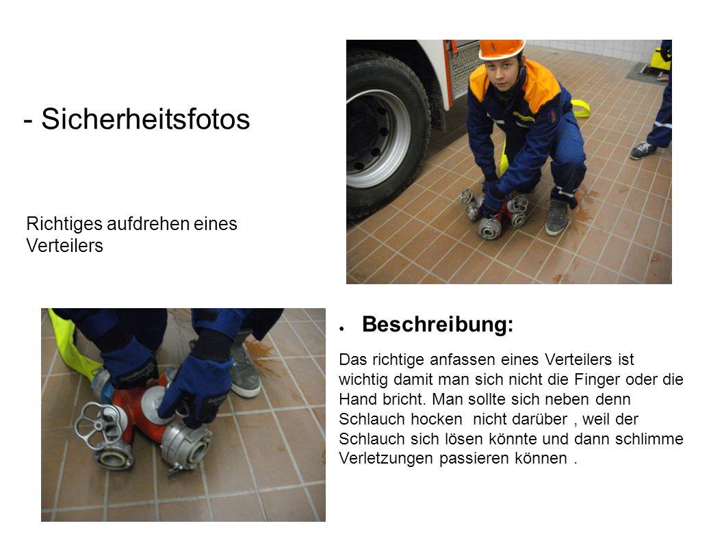 Richtiges aufdrehen eines Verteilers - Sicherheitsfotos ● Beschreibung: Das richtige anfassen eines Verteilers ist wichtig damit man sich nicht die Fi