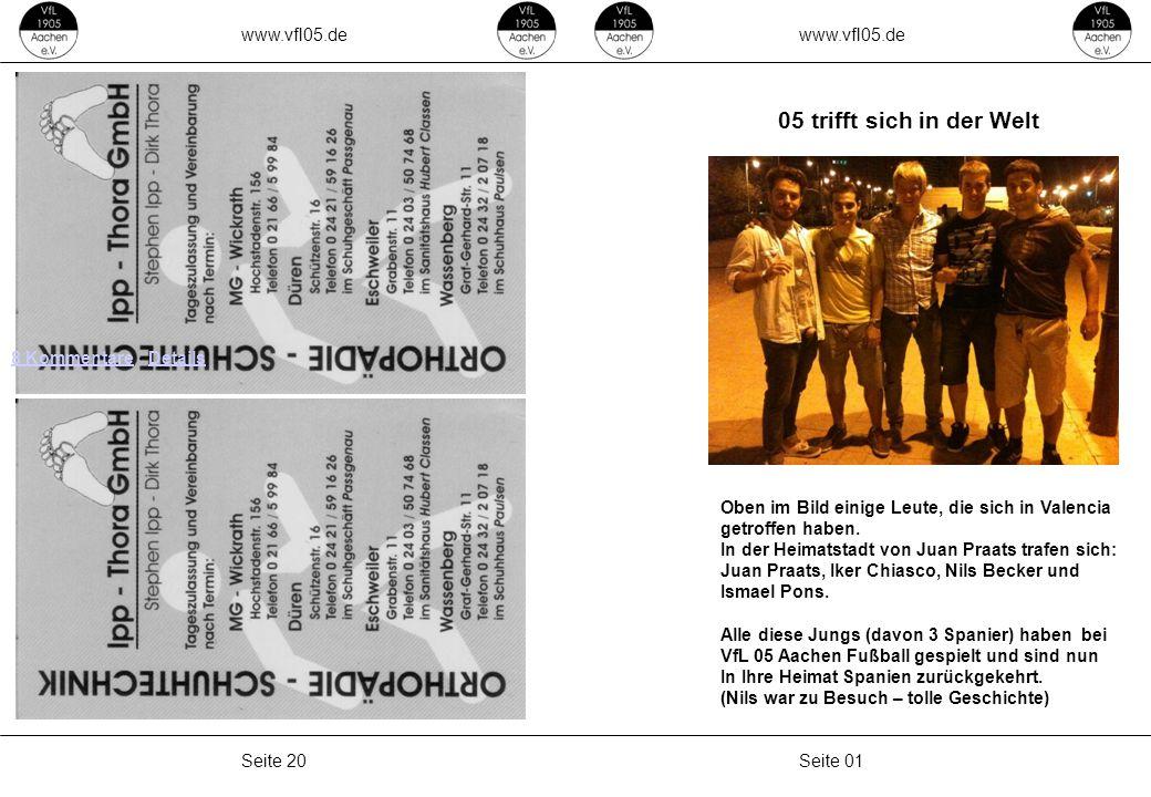www.vfl05.de Seite 01Seite 20 8 Kommentare8 Kommentare · DetailsDetails 05 trifft sich in der Welt Oben im Bild einige Leute, die sich in Valencia getroffen haben.